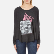 Wildfox Women's Wildfox Ca Perry Thermal Long Sleeve Top - Clean Black