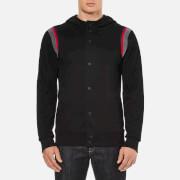 HUGO Men's Doligno Buttoned Hoody - Black