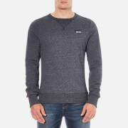 Superdry Men's Orange Label Crew Sweatshirt - Navy Grit