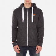 Superdry Men's Orange Label Zip Hoody - Lowlight Black Grit