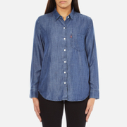 Levi's Women's Sidney 1 Pocket Boyfriend Shirt - Ocean Blue