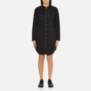 Levi's Women's Long Sleeve Iconic Western Dress - Black Ink