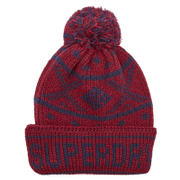 Superdry Men's Oban Beanie Hat - Plum/Navy