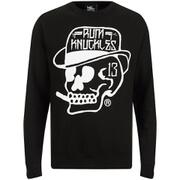 Rum Knuckles Classic Logo Crew Neck Sweatshirt - Zwart