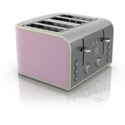Swan ST17010PN 4 Slice Retro Toaster - Pink