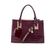 Dune Women's Deedee Croc Tote Bag - Berry