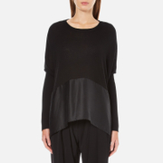 Paisie Women's Knitted Jumper with Silk Panel - Black