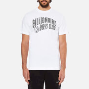 Billionaire Boys Club Men's Arch Logo Reflective Ski-Grid Short Sleeve T-Shirt - White