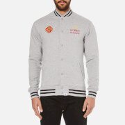 Billionaire Boys Club Men's Vegas Cotton Varsity Jacket - Heather Grey