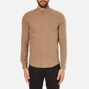 Folk Men's Button Down Long Sleeve Shirt - Sand