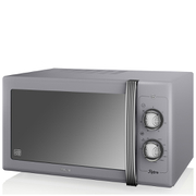Swan SM22070GRN 25L Retro Manual Microwave - Grey