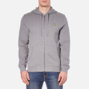 Lyle & Scott Men's Zip Through Hoody - Mid Grey Marl