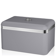 Swan Retro Bread Bin - Grey