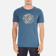 Pretty Green Men's Stretford Paisley Logo T-Shirt - Blue