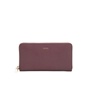 DKNY Women's Bryant Park Large Zip Around Purse - Oxblood