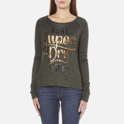 Superdry Women's Slubby Graphic Knitted Jumper - Khaki Twist