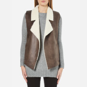 French Connection Women's Winter Rhoda Gilet - Indian Tan