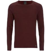 Produkt Men's Twist Knit Crew Neck Jumper - Syrah
