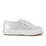 Superga Kids' 2750 Lamej Trainers - Silver