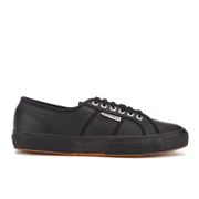 Superga Men's 2750 Fglu Leather Trainers - Full Black