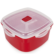 Tower T90812R Microwave Steamer 1.48L - Red