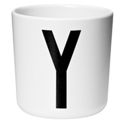 Design Letters Kids' Collection Melamin Cup - White - Y