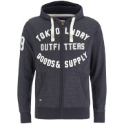 Tokyo Laundry Men's Hawk Hills Zip Through Hoody - Charcoal Marl