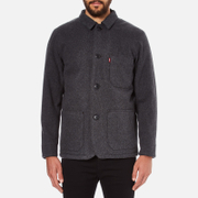 Levi's Men's Wool Engineers Coat - Black Heather