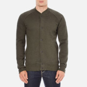 Levi's Men's Fleece Bomber Jacket - Chain Olive Night/Black Chain Yarn