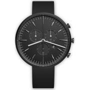 Uniform Wares Men's M42 Pvd Italian Nitrile Rubber Wristwatch - Black