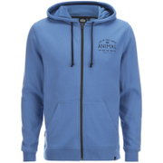 Animal Men's Shiver Zip Through Back Print Hoody - Royale Blue