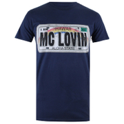 Superbad Men's Reg Plate T-Shirt - Navy
