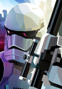 Star Wars First Order Storm Trooper Inspired Illustrative Fine Art Print - 16.5 x 11.7