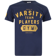 Varsity Team Players Men's Gym T-Shirt - Navy