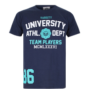 Varsity Team Players Men's University Athletic T-Shirt - Navy