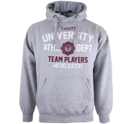 Varsity Team Players Men's University Athletic Hoody - Grey
