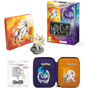 New Nintendo 3DS XL Solgaleo and Lunala Limited Edition + Pokémon Sun Steelbook Pack