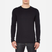 HUGO Men's Shevro Crew Neck Knitted Jumper - Navy
