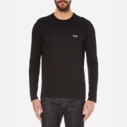 BOSS Green Men's Small Logo Long Sleeve T-Shirt - Black