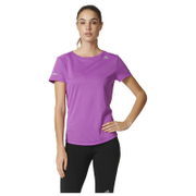 adidas Women's Sequencials Climalite Running T-Shirt - Purple