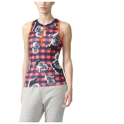 adidas Women's Stella Sport Check Training Tank Top - Red/Blue