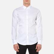 BOSS Orange Men's Edipoe Plain Long Sleeve Shirt - White