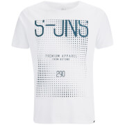 Smith & Jones Men's Cenotaph Print T-Shirt - White