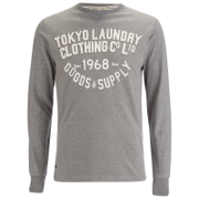 Tokyo Laundry Men's Point Hendrick Long Sleeve Top - Mid Grey Marl