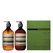 Aesop Geranium Leaf Body Cleanser and Balm Duet