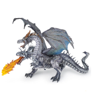 Papo Fantasy World: Two Headed Dragon - Silver