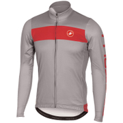 Castelli Raddoppia Long Sleeve Jersey - Grey/Red