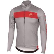 Castelli Raddoppia Long Sleeve Jersey - Grey/Red