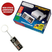 Nintendo Classic Mini: Nintendo Entertainment System + NES Controller Keychain
