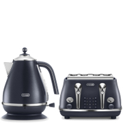 De'Longhi Elements Kettle and Four Slice Toaster - Blue